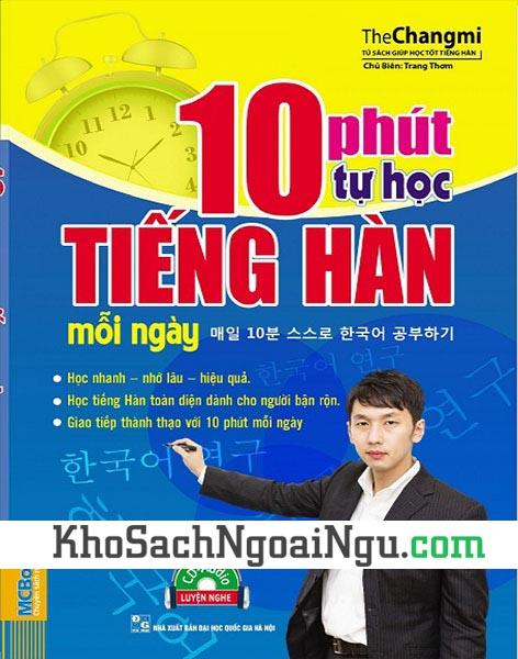 Sách 10 phút tự học tiếng Hàn mỗi ngày