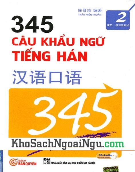 Sách 345 câu khẩu ngữ tiếng Hán Tập 2
