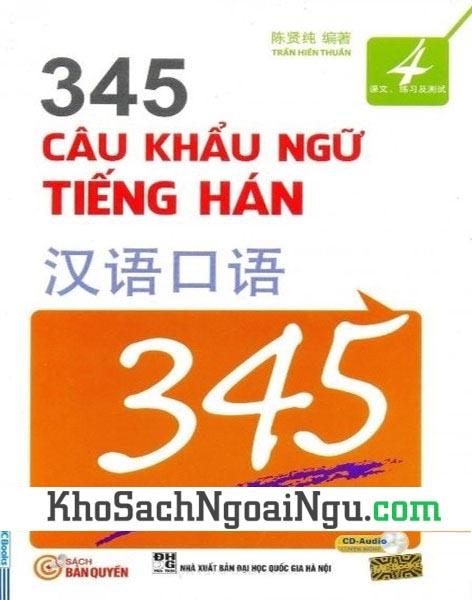 Sách 345 câu khẩu ngữ tiếng Hán Tập 4