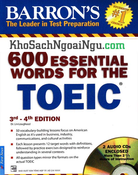 Sách 600 essential words for the Toeic 3rd-4th edition (Kèm CD)