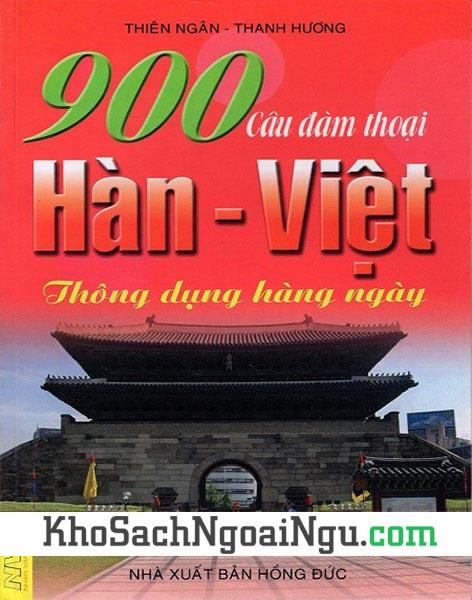 Sách 900 câu đàm thoại Hàn Việt