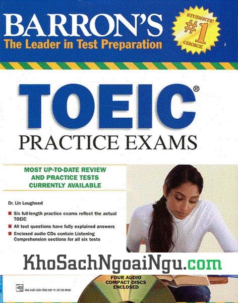 Sách Barron's Toeic practice exams (Kèm CD)