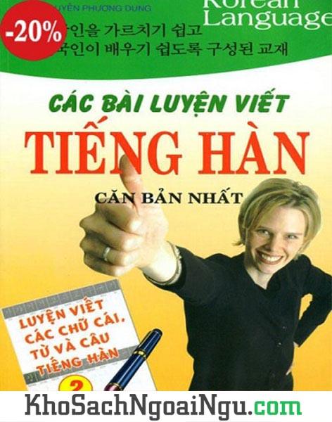 Sách Các bài luyện viết tiếng Hàn