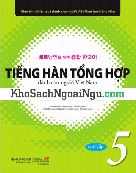 Sách Tiếng Hàn tổng hợp Cao cấp 5 Bài học