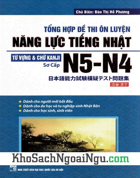 Đề thi tiếng Nhật N5-N4 Từ vựng chữ Kanji