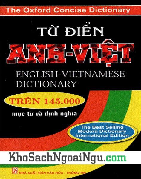 Sách Từ điển Anh Việt – trên 145.000 từ