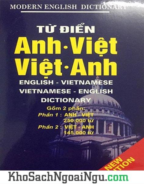 Sách Từ điển Anh Việt và Việt Anh