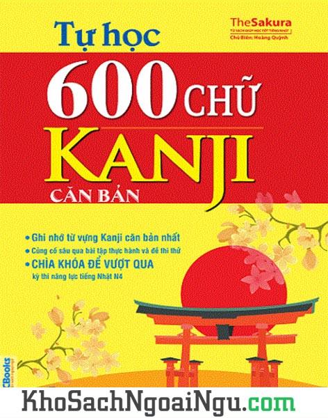 Sách Tự học 600 chữ Kanji căn bản