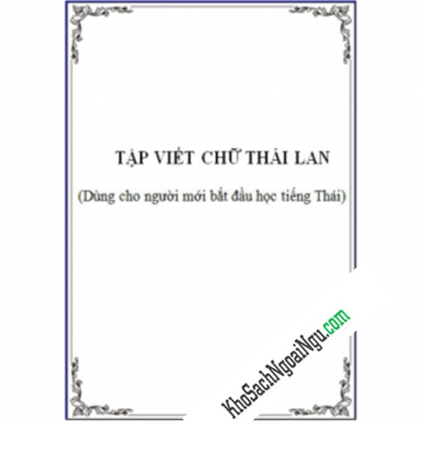 Luyện Viết Chữ Thái Lan
