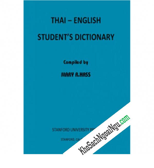 Từ Điển Thái - English (Dành Cho Học Sinh)