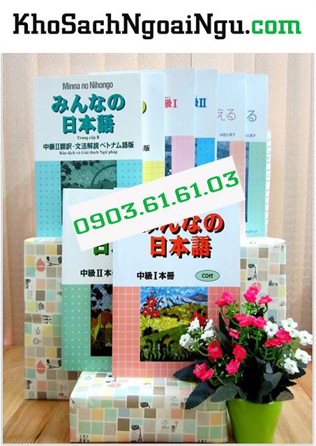 Bộ Giáo Trình Minna No Nihongo Trình Độ N3 và N2 - Trọn bộ 8 cuốn