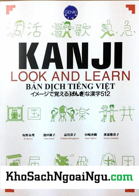Kanji Look and Learn N5, N4 Bài học - Bản Nhật Việt